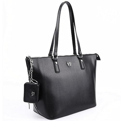 la moda più votata In liquidazione nuovo elenco YNOT borsa shopping 2 manici MC-019 in VERA PELLE nera ...