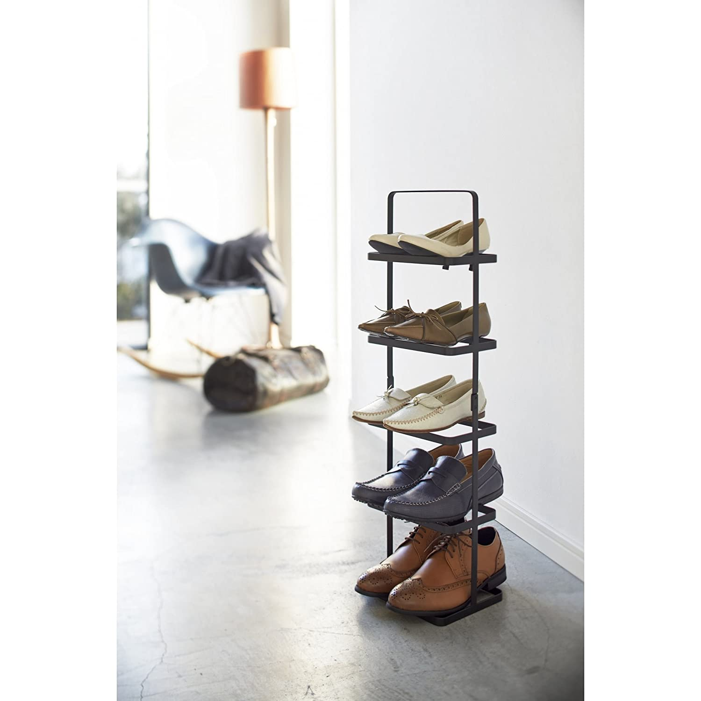 Yamazaki Steel Tower Shoe Rack 5 Tier Black Co Uk Kitchen Home