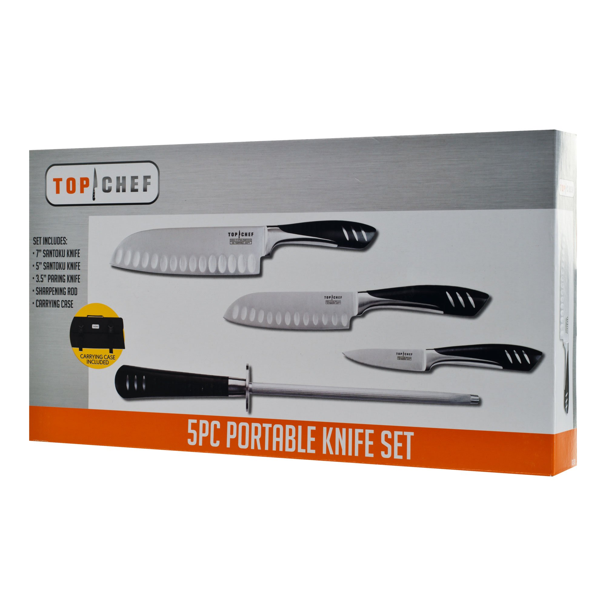 Top Chef 5-Piece Stainless Steel Knife Set, Portable by Topchef (Image #2)