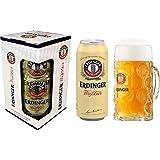 Kit Cerveja Erdinger Lata - 1 Erdinger Weissbier 500 ml + 1 Caneca Erdinger 500ml