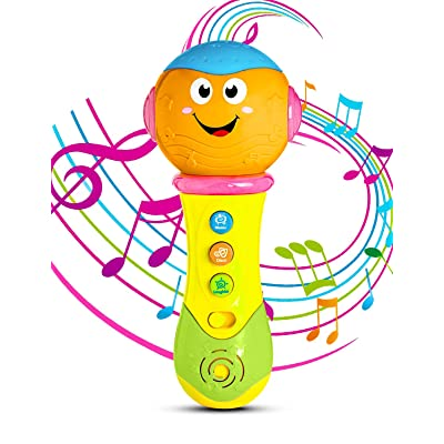 6 Month Baby Toys,Refasy Children Rattles Babies Musical LED Light Sounds Early Educational Development Best Gift Birth-24 Months Fun Playing Game Toys for Baby Infants Toddlers Boys Girls Kids Orange: Clothing