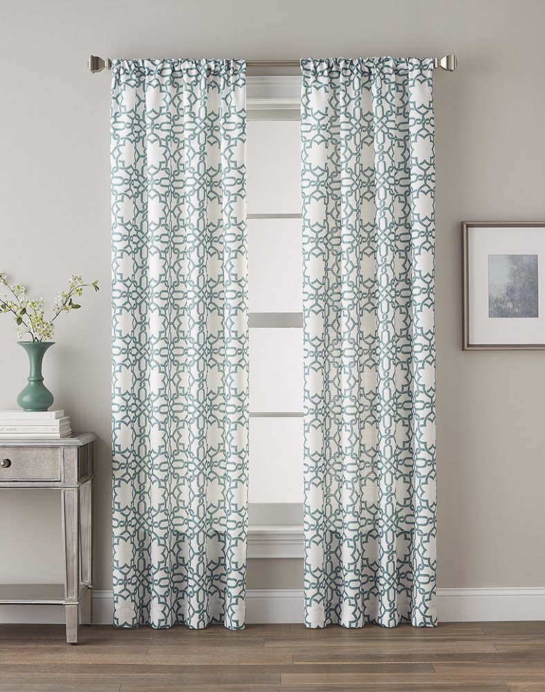 CHF 1Q824506LE Lotus Harmony Curtain Panel, Linen, 63 63 CHF Industries