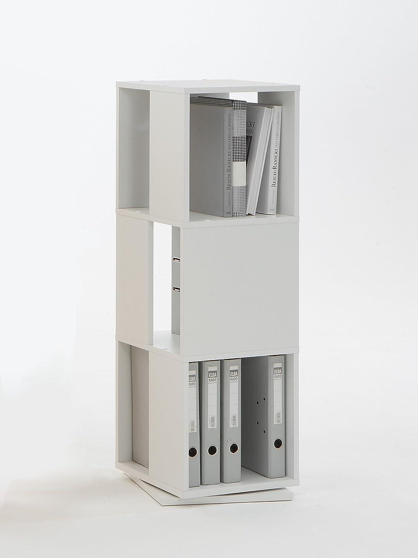 Unbekannt FMD Tower drehbares Regal mit 3 Ebenen weiß