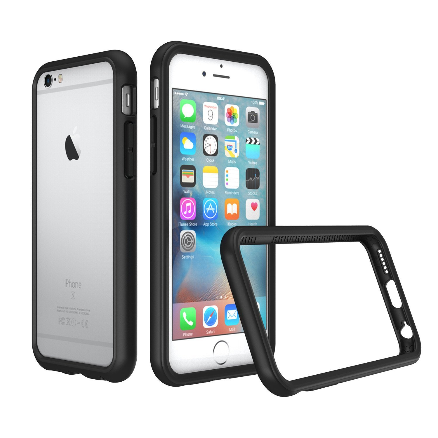 RhinoShield Bumper Case for iPhone 6 Plus/iPhone 6S Plus [CrashGuard] | Shock Absorbent Slim Design Protective Cover [3.5 M / 11ft Drop Protection] - Black by RhinoShield