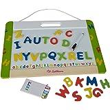 Aufklappbare Kinder-Spieltafel mit Kreide und
