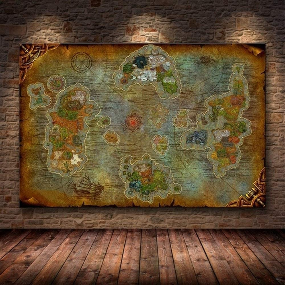 WORLD MAP HUGE POSTER SIZE 59*39in ART PRINT WALL DECOR