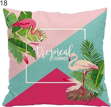 D/écoration de maison #2 Motif de flamand rose /à la mode Polyester Housse de coussin beiguoxia Taille unique