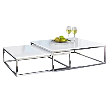 Invicta Interior Design Couchtisch 2er Set Big Fusion Hochglanz