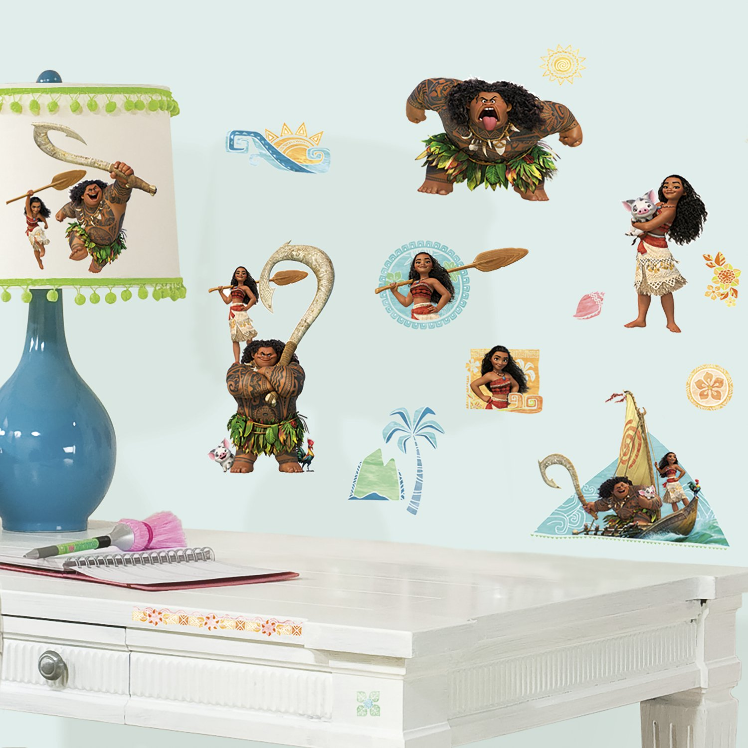 RoomMates RMK3382SCS Disney Moana Peel and Stick Wall Decals ...