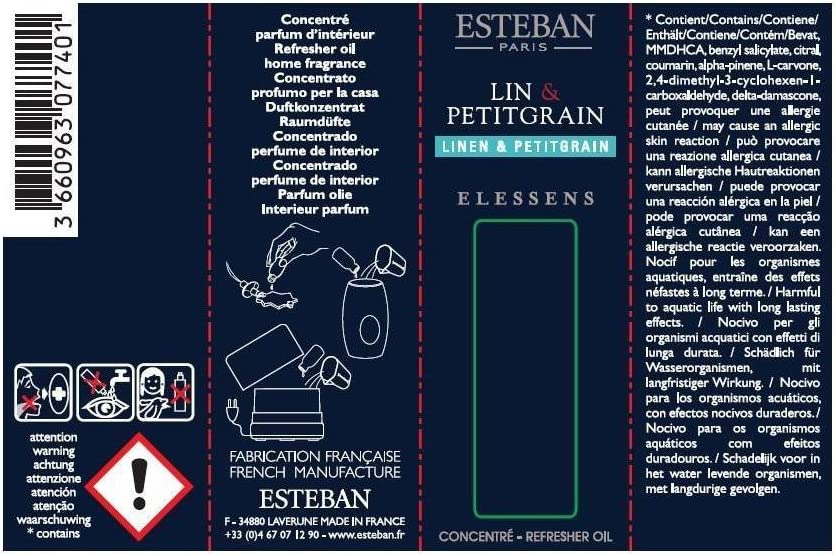 Lin & Petitgrain essential oil Esteban Parfums 15 ml: Amazon.es: Hogar