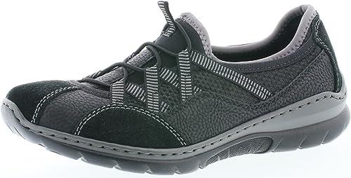Rieker L3251 Damen Slipper, Mokassins, Halbschuhe, Trekking Schuhe, Memosoft Decksohle