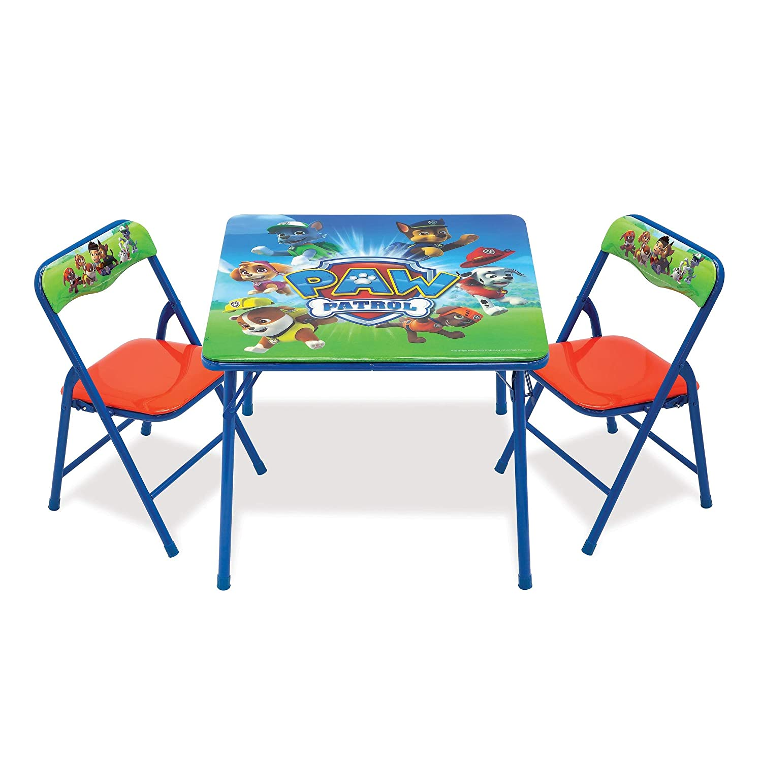 Brilliant Paw Patrol Activity Table Sets Folding Childrens Table Chair Set Includes 2 Kid Chairs With Non Skid Rubber Feet Padded Seats Sturdy Metal Creativecarmelina Interior Chair Design Creativecarmelinacom