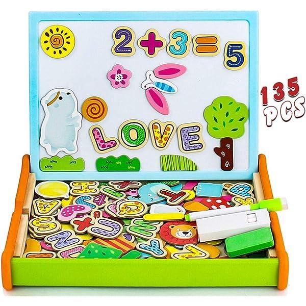 Pizarra Magnetica Infantil 135 Piezas Puzzle Rompecabezas ...