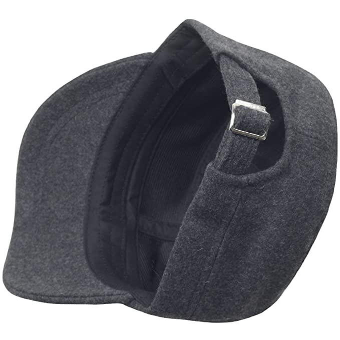 373b26f7037 Amazon.com  A108 Wool Winter Warm Simple Design Club Army Cap Cadet Military  Hat (Black)  Sports   Outdoors