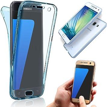Samsung Galaxy A7 2017 Funda de Silicona Delantera + Trasera Doble ...