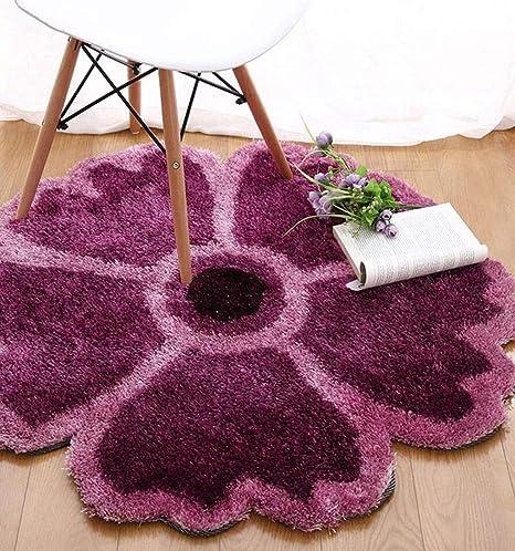 Alfombra de alfombraPiso en forma de flor tapetes mesa y ...
