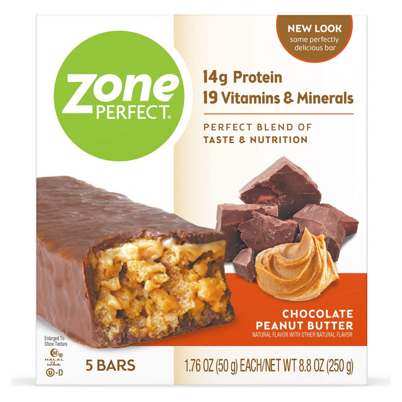 ZonePerfect Nutrition Snack Bars, High Protein Energy Bars, Chocolate Peanut Butter, 1.76 Ounce Bar, 5 Count