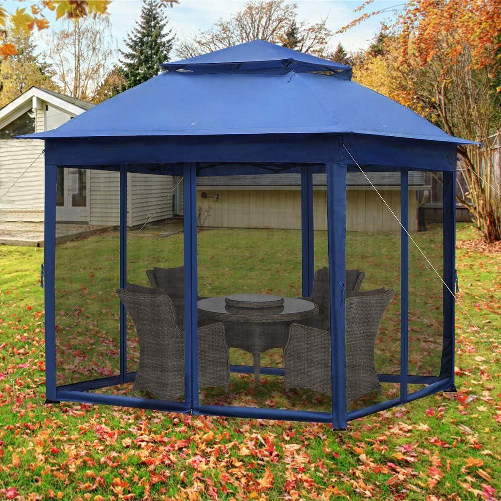 Carpa de jardín de 3 x 3 m de Froadp, estructura de techo de dos ...