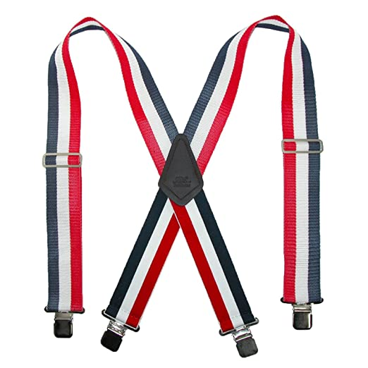 6db89d1dd66 CTM Men s 2 Inch Wide Non-Elasticized Construction Clip-End Suspenders
