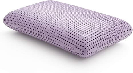 lucid lavender scented soothing plush memory foam side back and stomach sleepers pillow queen