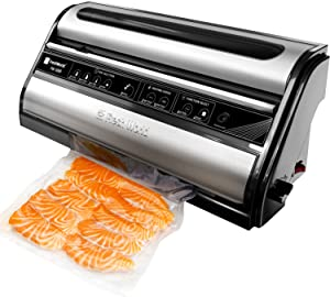 Vacuum Sealer Machine, Automatic Food Saver Vacuum Sealer Machine for Food Preservation, Dry & Moist Food Modes, Easy to Clean, Led Indicator Lights, Safety Certified Food Sealer with Starter Kit