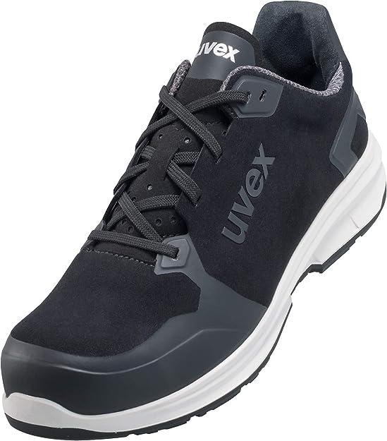 Uvex 1 Sport Chaussures de Travail pour Hommes S3 SRC ESD Baskets Légères de Sécurité avec Embout Velours Noir