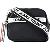 Tommy Jeans Women's Logo Tape Crossover Nylon, Black - AW0AW08255