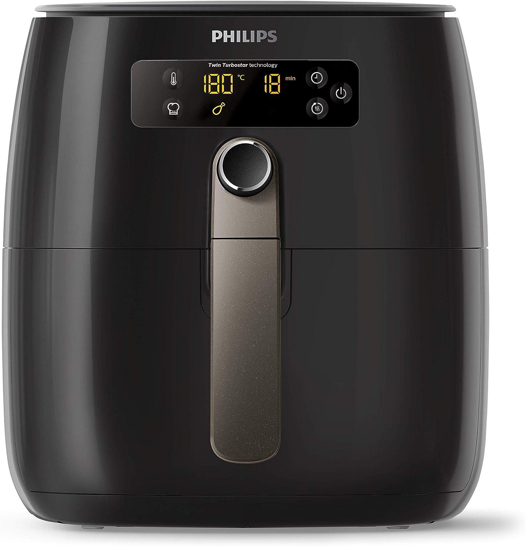 1425 W, ohne /Öl, 0,8 kg, f/ür 2-3 Personen, digitales Display Philips HD9741//10 Airfryer Hei/ßluftfritteuse schwarz