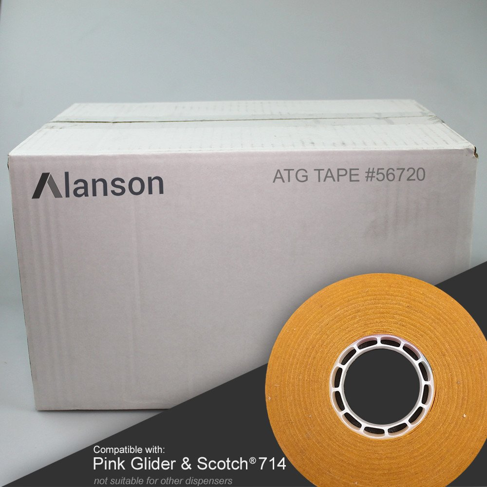 ATG Tape [144 ROLLS] 1/4'' - Exclusively for Pink Glider & Scotch #714 Refills by Alanson Products