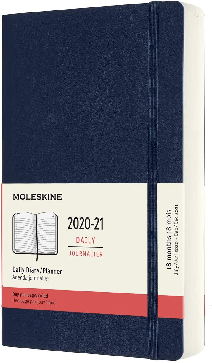 Moleskine : 2020-21 diarias 18 Meses 13x 21 Tapa Blanda Azul