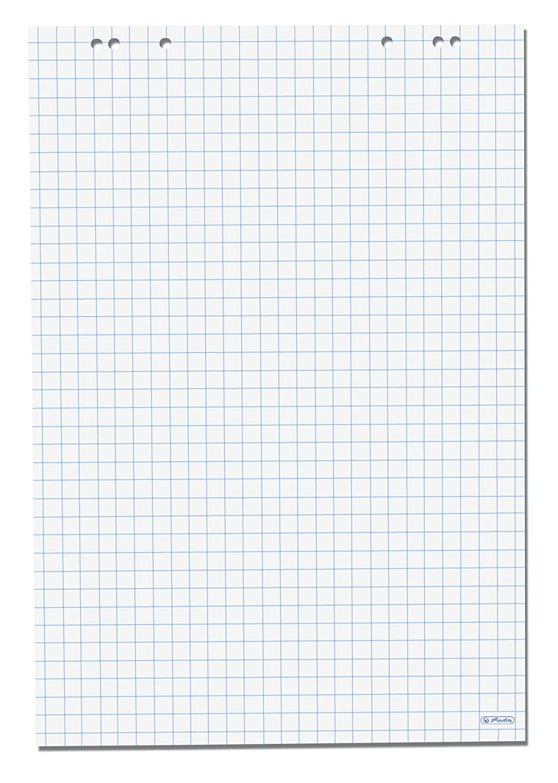 Herlitz - Carta riciclata a quadretti per lavagna a fogli mobili, 68 x 99 cm, confezione da 5 pezzi Pelikan 10834141