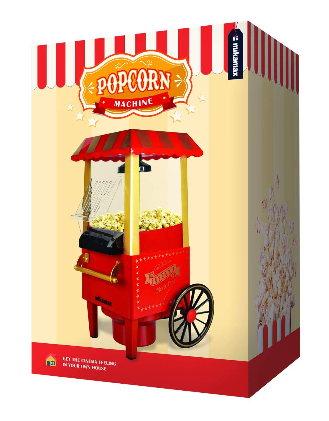 MikaMax - Popcorn Machine - Retro Palomitero Pop Corn Maker: Amazon.es: Electrónica