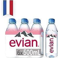 Evian Natural Mineral Water, 6 x 500ml
