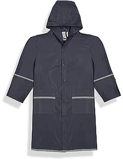 Reflective Stripes Hooded Fit Rite Boys Waterproof Raincoat Rain Jacket Navy