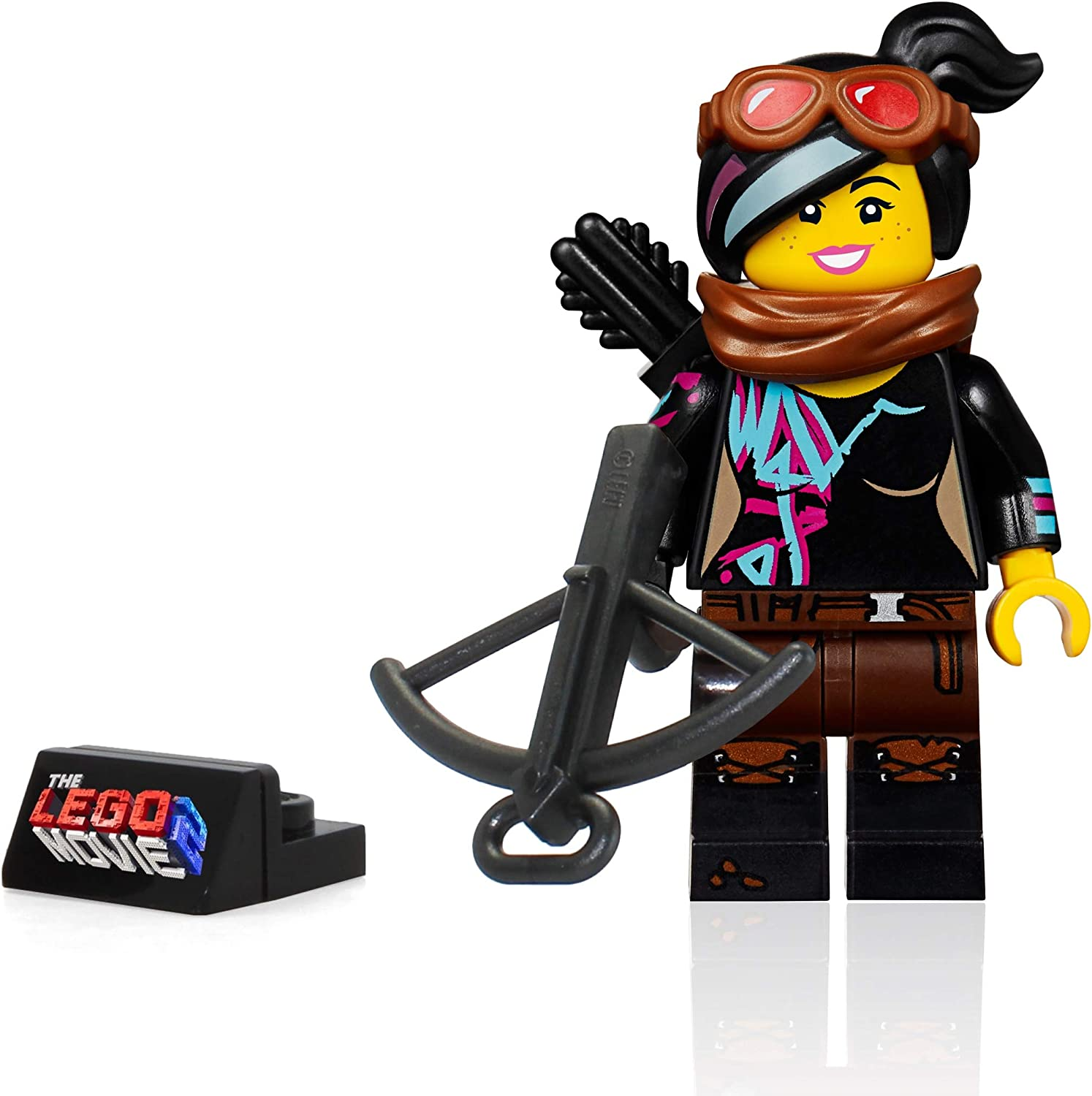 LEGO The Movie 2 Minifigure - Lucy Wyldstyle with Goggles (Crossbow and Display Stand)