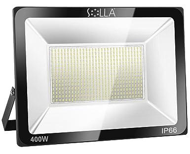SOLLA Luz de Inundación de 400W LED,Luz de Seguridad para Exteriores, 1600W Equiv