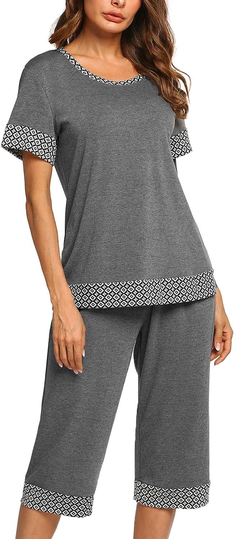 UNibelle Pyjama Court pour Femme avec 2 pi/èces