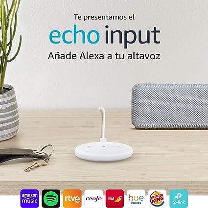 Echo Input Reacondicionado Certificado, Blanco - Añade Alexa a tus ...