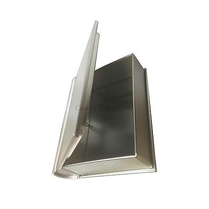 Boxance - Caja de metal en forma de libro con bisagra
