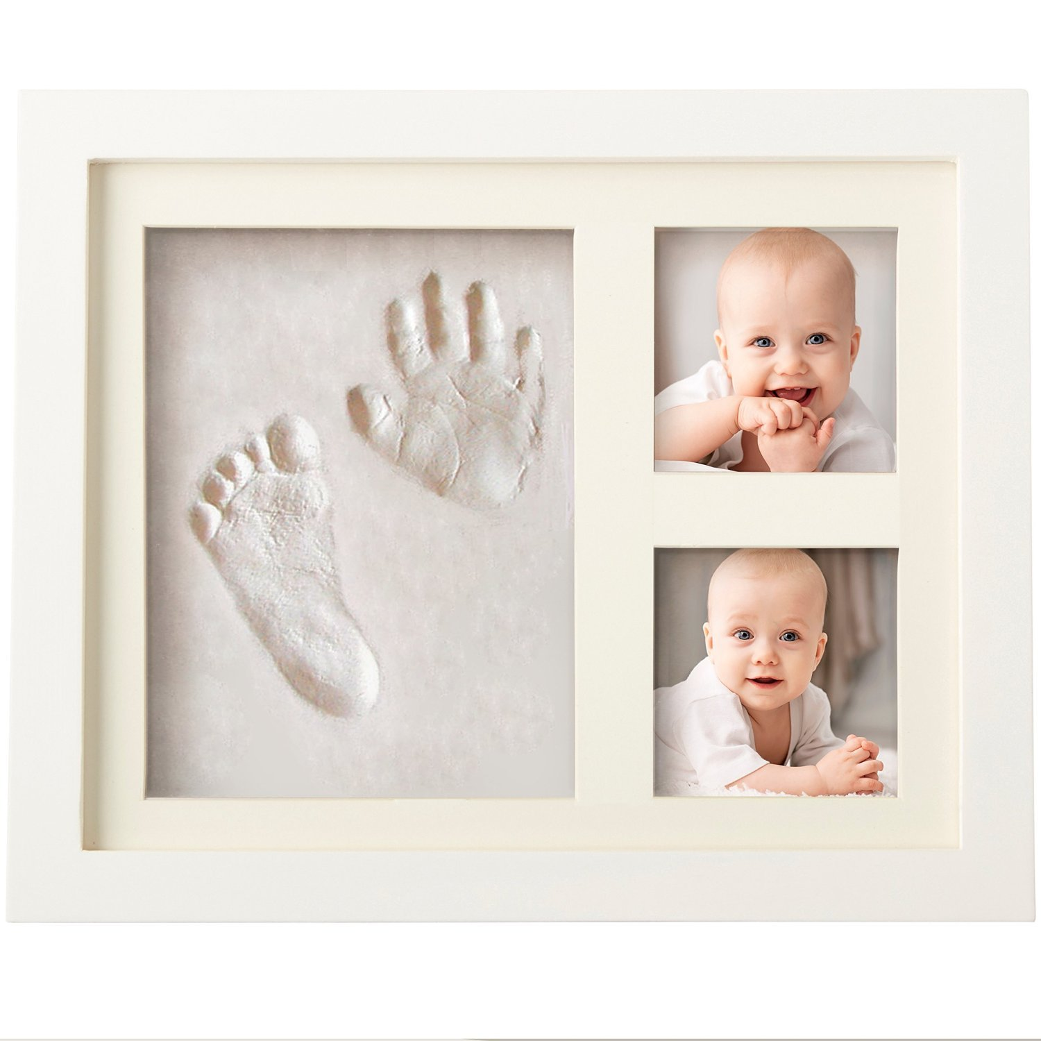 Boss Babies Clay HAND PRINT & FOOTPRINT Photo Frame Kit for Newborn Boys and Girls Personalised Baby Shower Gift Unique and Memorable Keepsake Box For Baby Room Wall Decoration and Nursery Decor