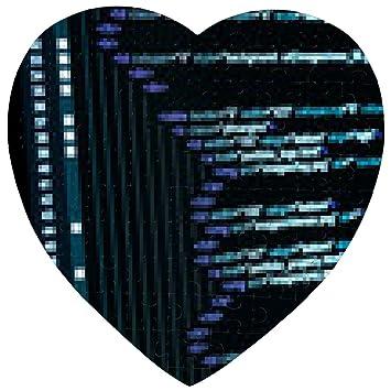 HTML web code Puzzle - Herz - 19cm x 19cm - 75 Teile: Amazon.de ...