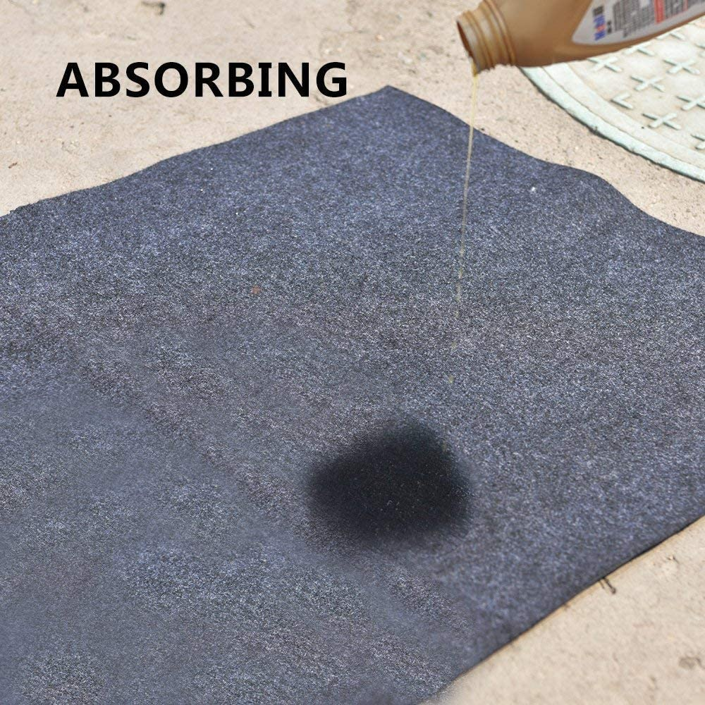 ,BBQ Grilling Gear Gas Electric Grill 39 x 84 inches Under The Grill Mat, Use This Absorbent Grill Pad Floor Mat to Protect Decks Patios from Grease Splatter and Other Messes Or For Welping Box