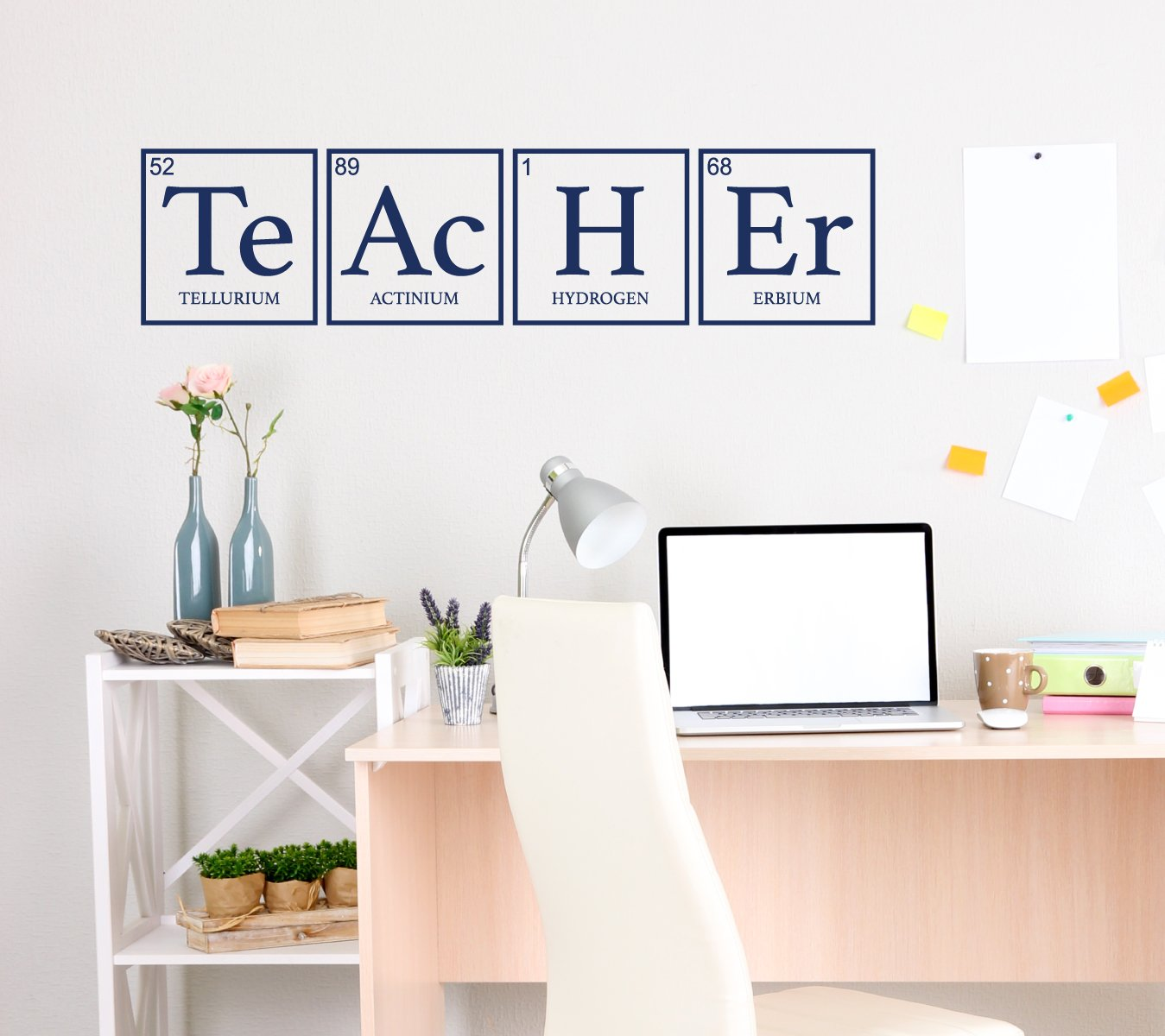 Wall Decal for Teachers - Teacher Periodic Table Decor - Science Art Decoration for Office, School or Classroom