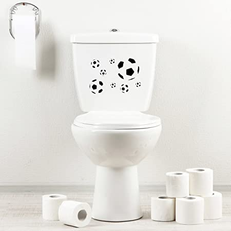 Menu Toilet Serie.Stickany Bathroom Decal Series Soccer Ball Pattern Sticker