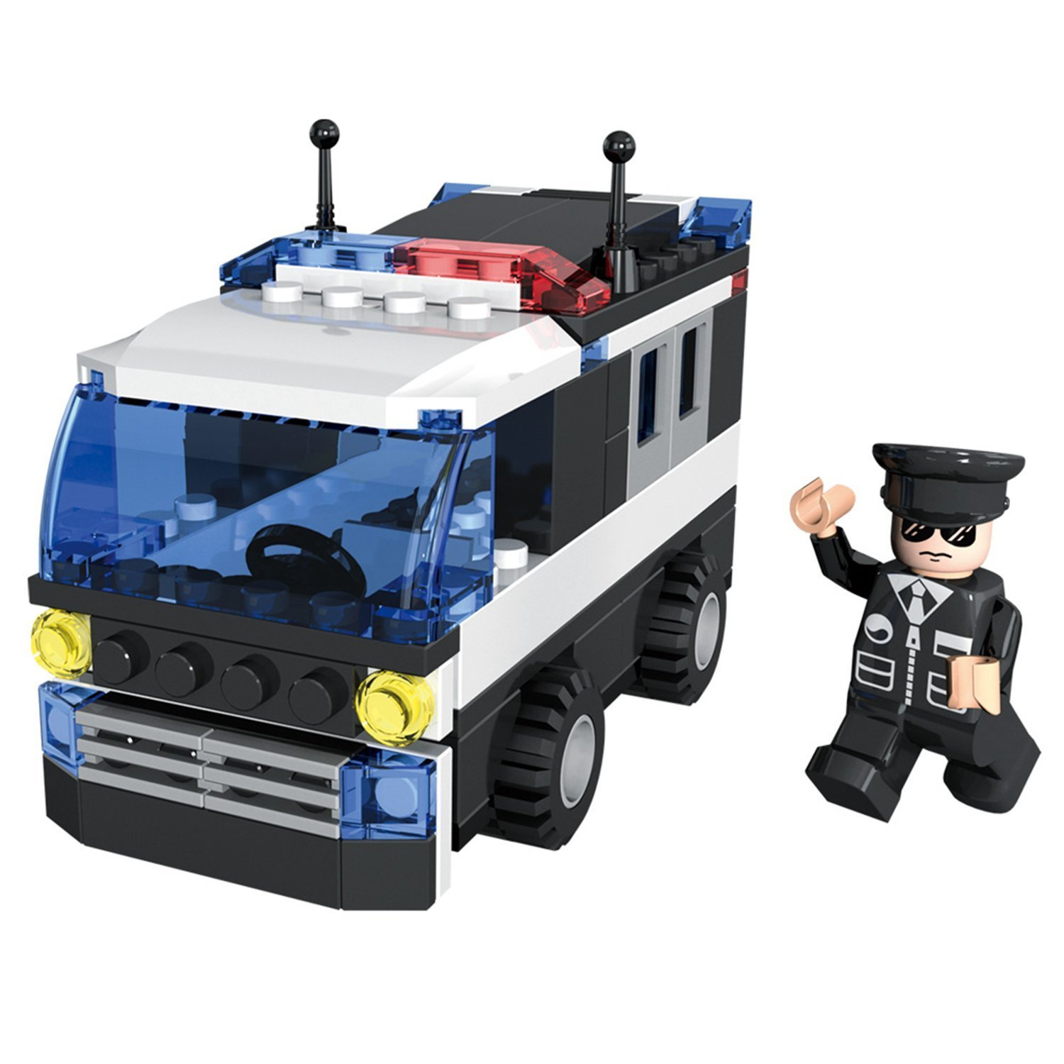 Amazon COGO Police Car Vehicle Truck Toy with Policeman Dolls