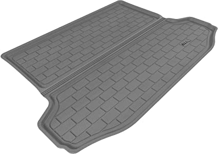 Kagu Rubber 3D MAXpider Second Row Custom Fit All-Weather Floor Mat for Select Toyota RAV4 Models Gray