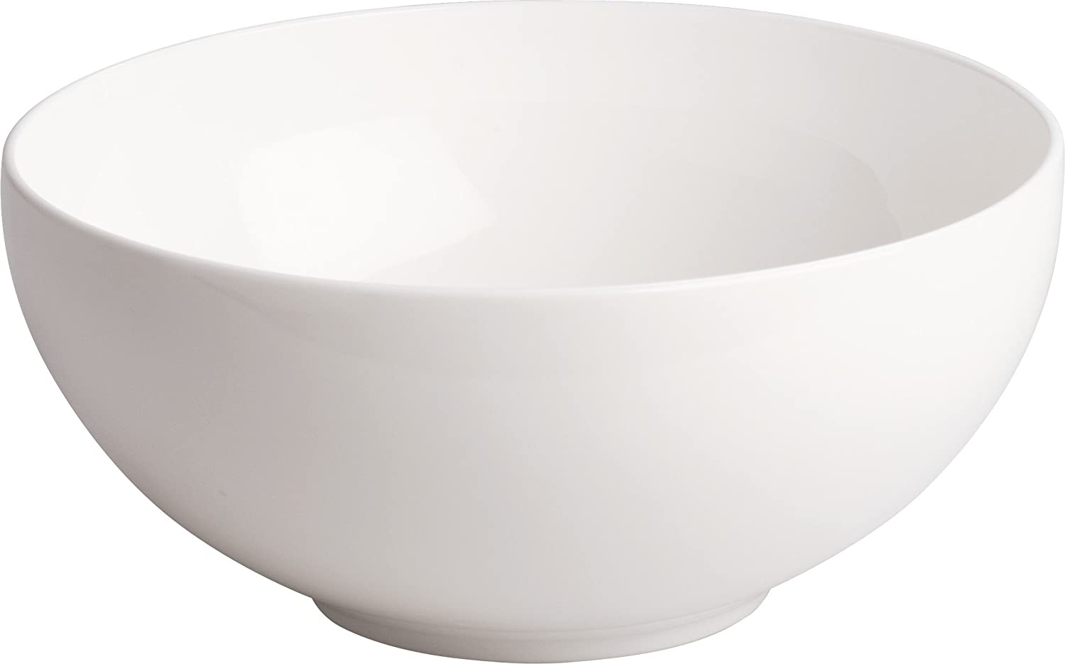 White Alessi AGV29//3820All-Time Salad Serving Bowl in Bone China