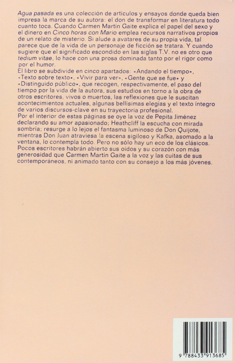 Agua pasada: 138 (Argumentos): Amazon.es: Martín Gaite, Carmen: Libros