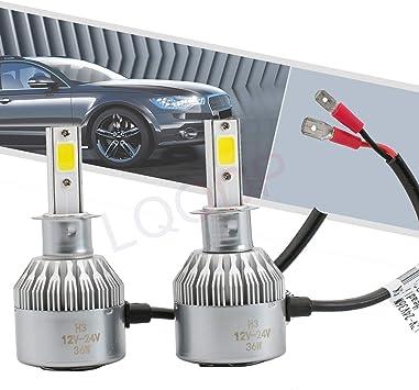 Automotive Lighting DEAL 2pcs H3 6000K White 7200LM Aluminum ...