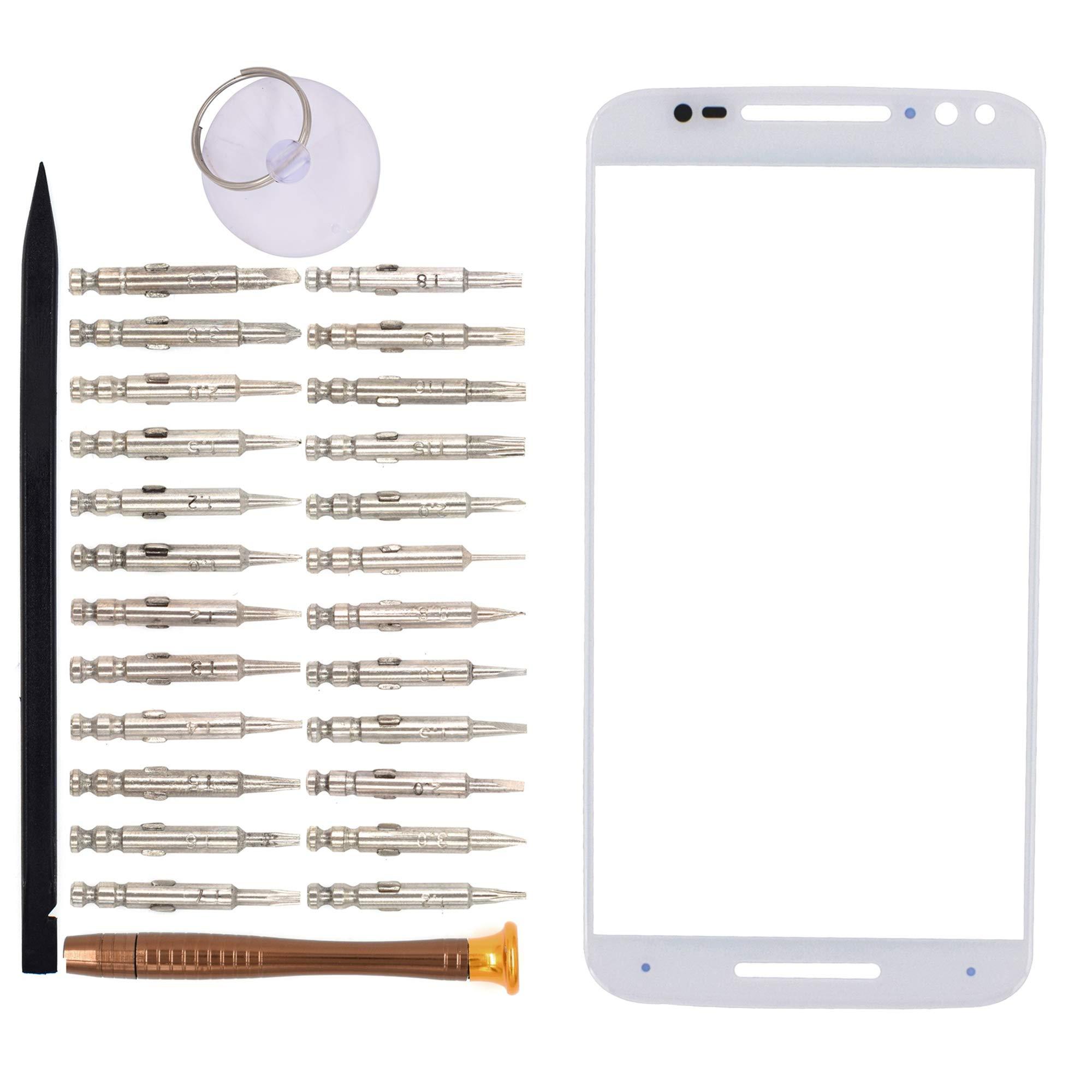 Vidrio Frente para Motorola Moto X blanco [GOODYITOU]